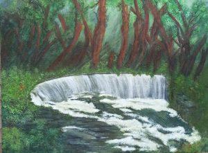 Waterfall - 100 cms x 76 cms - £125